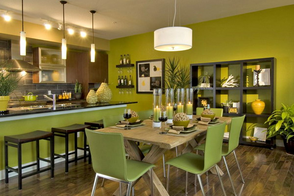 Green dining room decoration designs guide for Green dining room