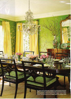 green dining room