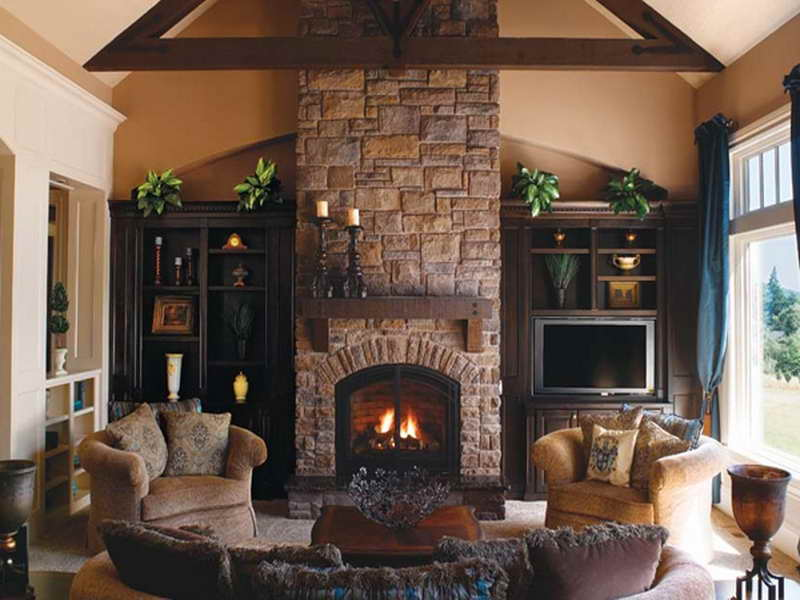 indoor stone fireplace. ideas indoor stone fireplace r