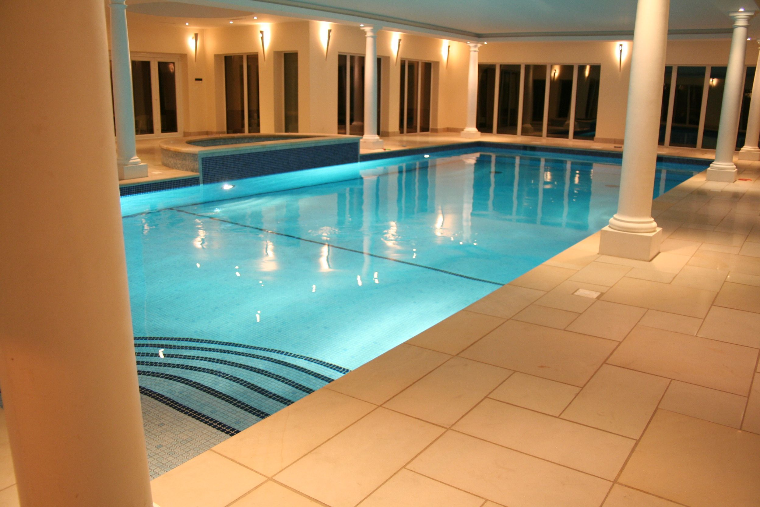 Residential Indoor Lap Pool. Indoor Swimming Pool Residential Lap F ...