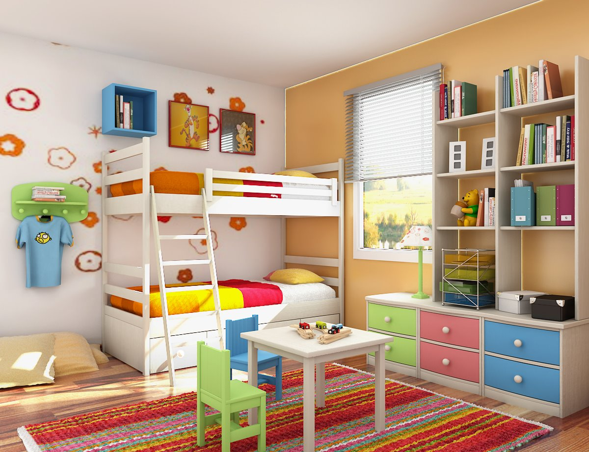 Small Floorspace Kids Rooms Decoration Designs Guide