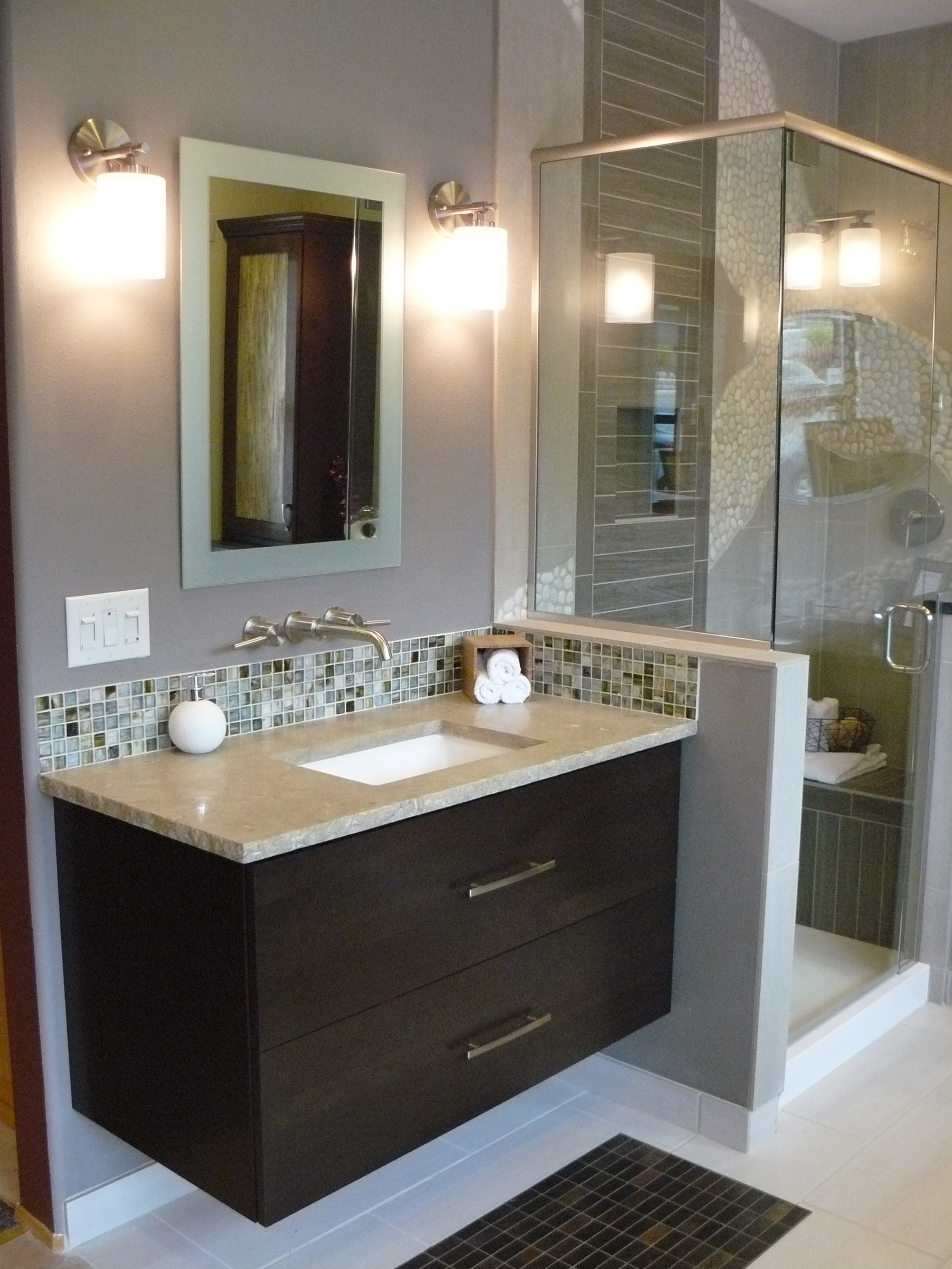 Vanity hall bathroom furniture decoration designs guide for Bathroom furniture ideas