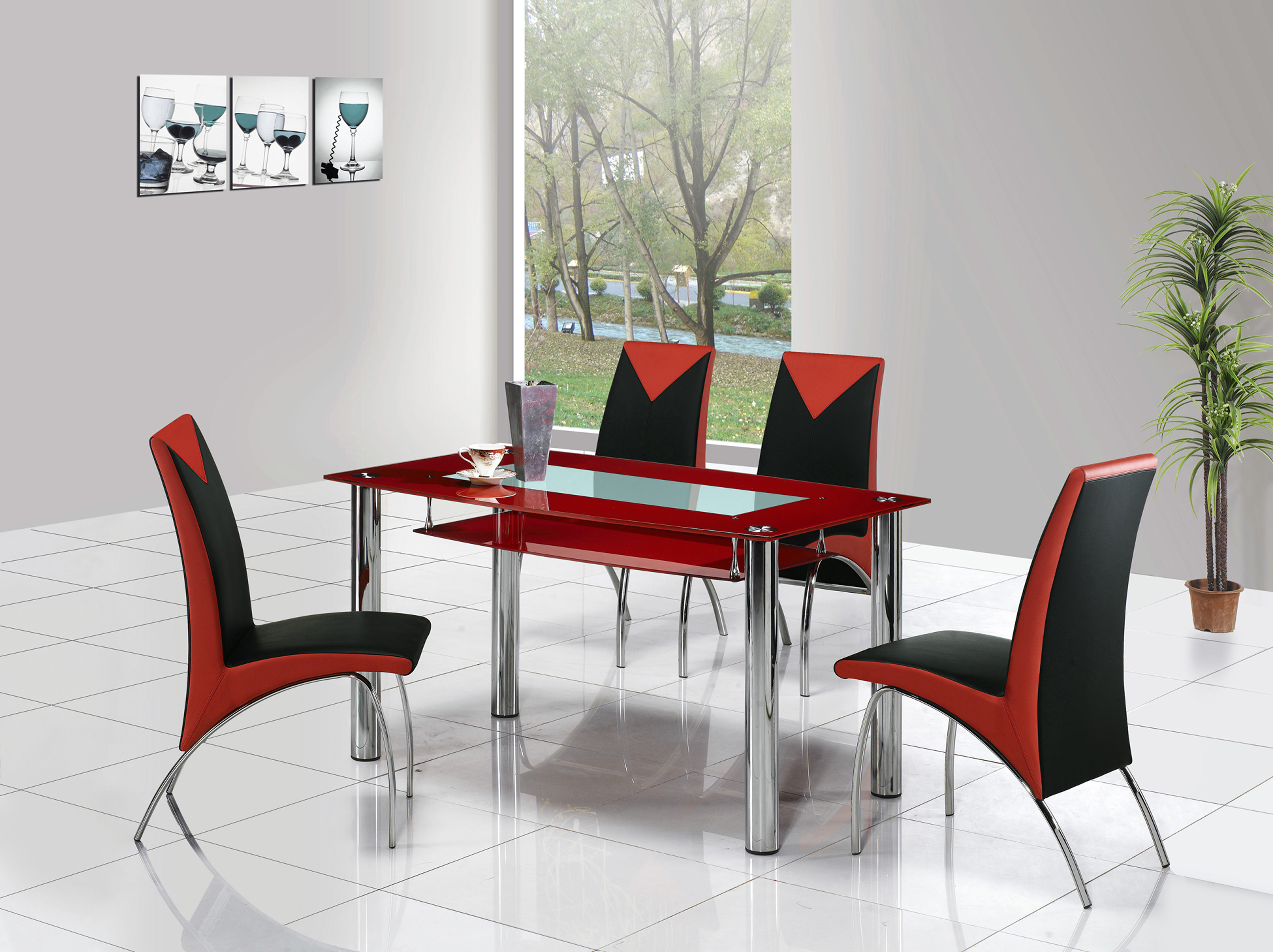 Rimini Large Gl Dining Table
